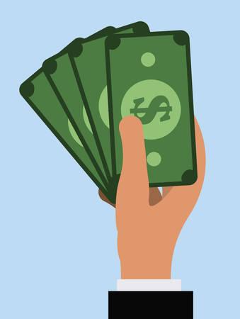 cash in hand: money graphic design , vector illustration