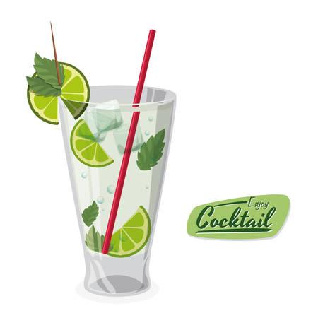 Cocktail conception graphique, illustration vectorielle Banque d'images - 34711858