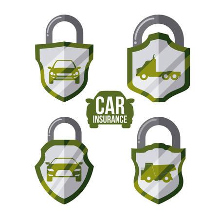 seguros autos: seguro de autom�vil de dise�o gr�fico, ilustraci�n vectorial Vectores