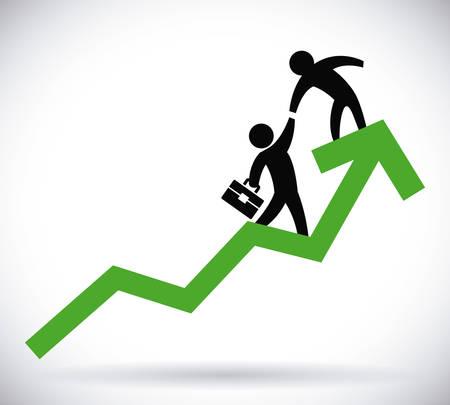 line graph: profit graphic design , vector illustration