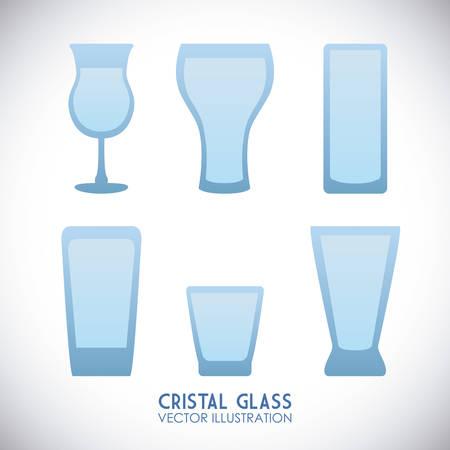 cristal: cristal glass graphic design , vector illustration Illustration