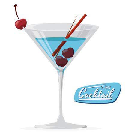cocktail graphic design , vector illustration