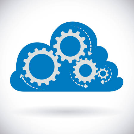 cloud: gear graphic design , vector illustration
