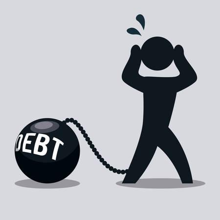 financial burden: debt graphic design , vector illustration Illustration