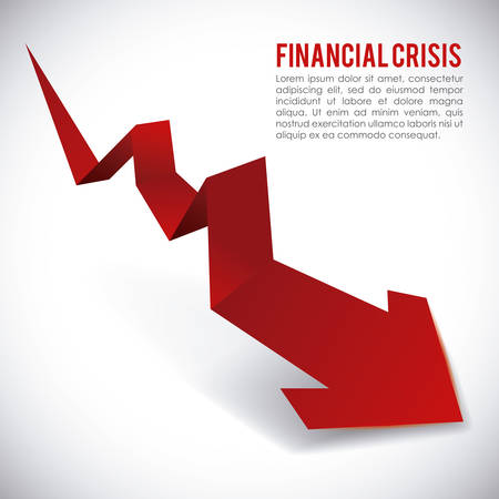 financial crisis graphic design , vector illustration