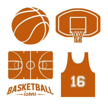 balon baloncesto: diseño del baloncesto, ilustración vectorial Vectores
