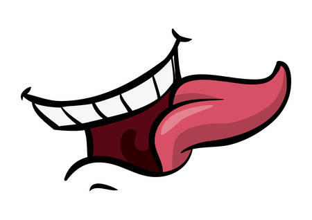 tongue: mouth design , vector illustration