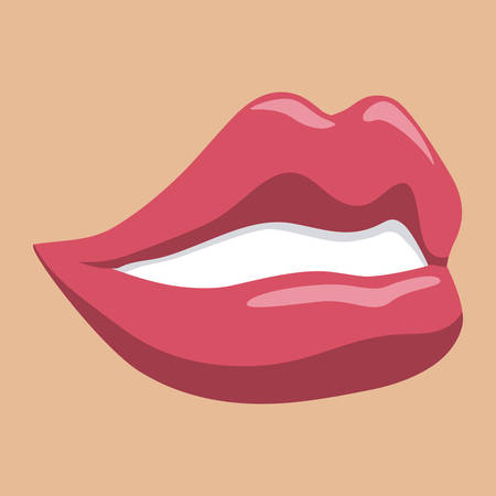 tongue woman: mouth design , vector illustration