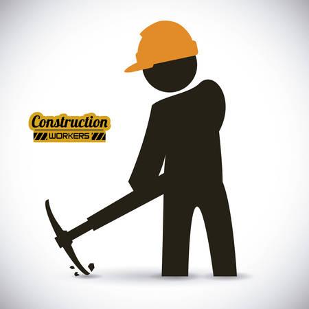 construction worker  , vector illustration