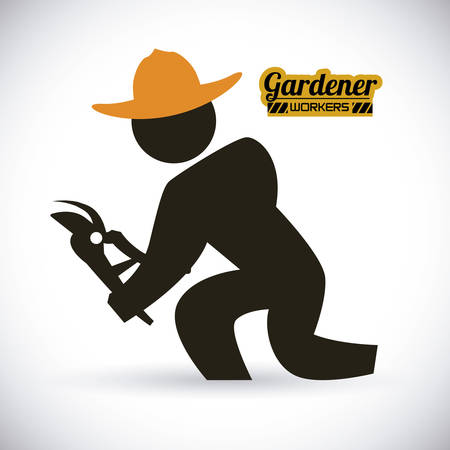 gardener design , vector illustration Vector