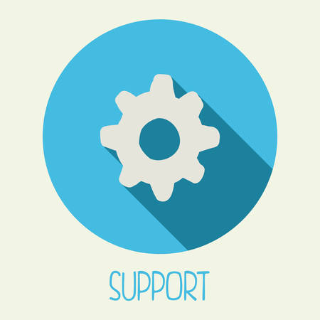 support icon design, vector illustration eps10 graphic Vector