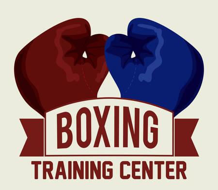 boxing label design, vector illustration eps10 graphic Illustration