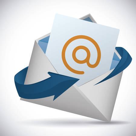 arroba: mail icon design, vector illustration eps10 graphic