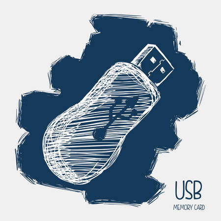 usb connection design, vector illustration eps10 graphic Vector