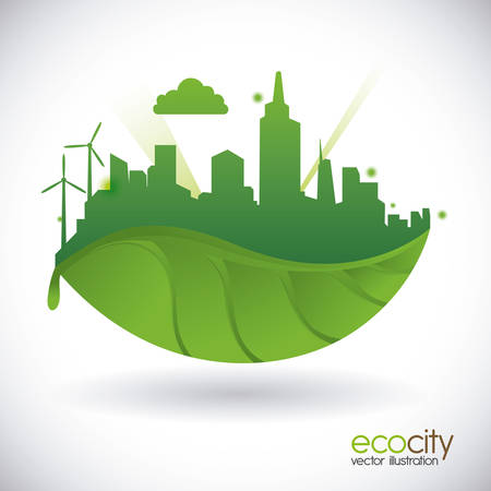 eco city design, vector illustration eps10 graphic