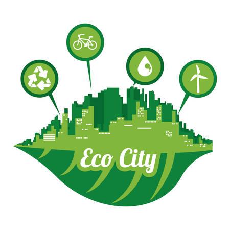 eco city design, vector illustration eps10 graphic Vector