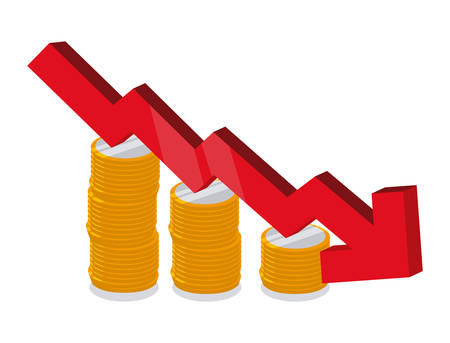 downturn: financial crisis graphic design , vector illustration