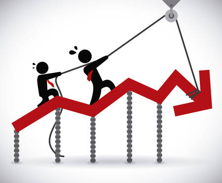 crisis financiera diseño gráfico, ilustración vectorial Ilustración de vector