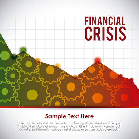 financial crisis: financial crisis graphic design , vector illustration