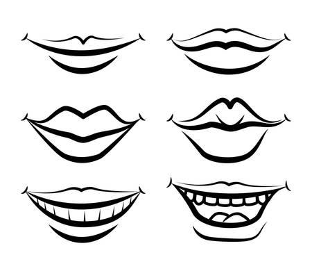 Diseño de la boca, ilustración vectorial Foto de archivo - 34724939