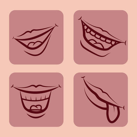 sexy tongue: mouth design , vector illustration