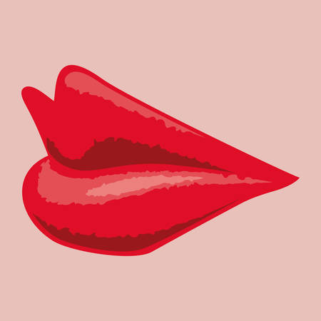 girl tongue: mouth design , vector illustration