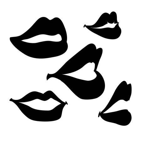 labios sexy: dise�o de la boca, ilustraci�n vectorial