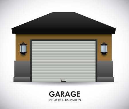 garage on house: garage  design , vector illustration Illustration