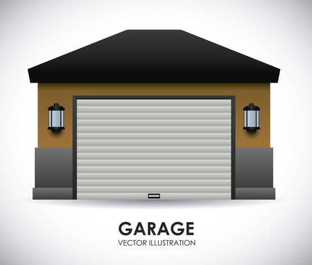 garaje de diseño, ilustración vectorial