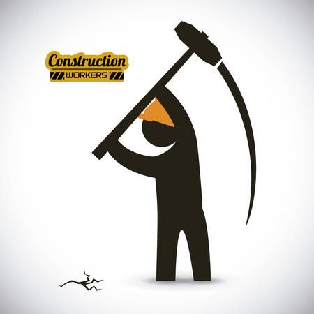 truncheon: construction worker  , vector illustration