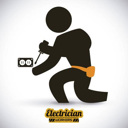 electrician: electrician  design , vector illustration