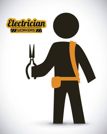 electrician  design , vector illustration Vector
