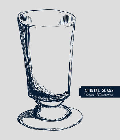 cristal: cristal glass design, vector illustration eps10 graphic Illustration