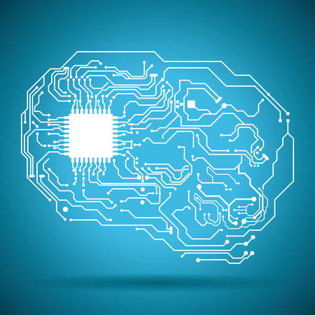 free the brain: circuit electric design, vector illustration eps10 graphic
