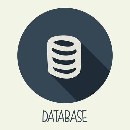 database icon design, vector illustration eps10 graphic Vector
