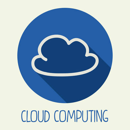 cloud computing design, vector illustration eps10 graphic Vector