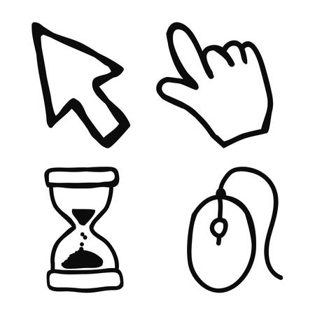 mouse cursor: mouse icon design, vector illustration eps10 graphic