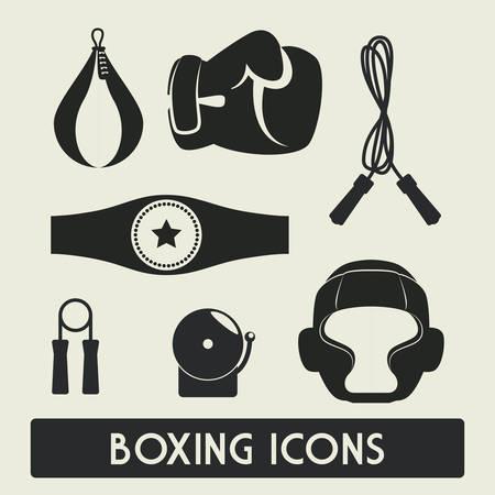 boxing knockout: boxing label design, vector illustration eps10 graphic Illustration
