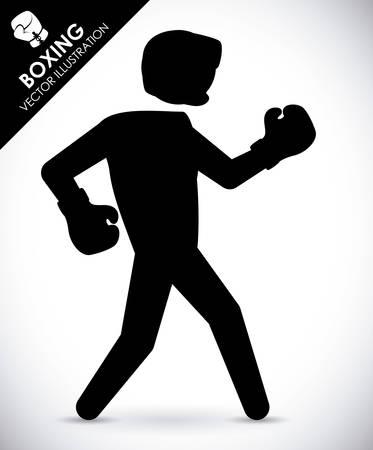 boxing label design, vector illustration eps10 graphic Vector