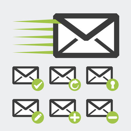 mail icon: mail icon design, vector illustration eps10 graphic
