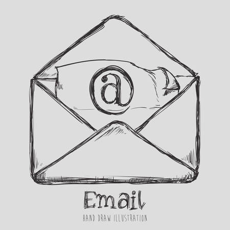 mail icon design, vector illustration eps10 graphic Vector