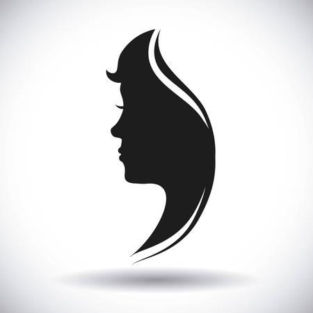 human profile design, vector illustration