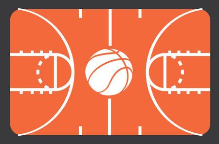 cancha de basquetbol: Dise�o del cartel de baloncesto, ilustraci�n vectorial