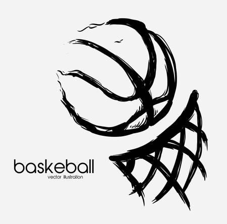 canestro basket: basketball poster design, illustrazione vettoriale