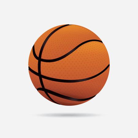 balon baloncesto: diseño del cartel de baloncesto, ilustración vectorial