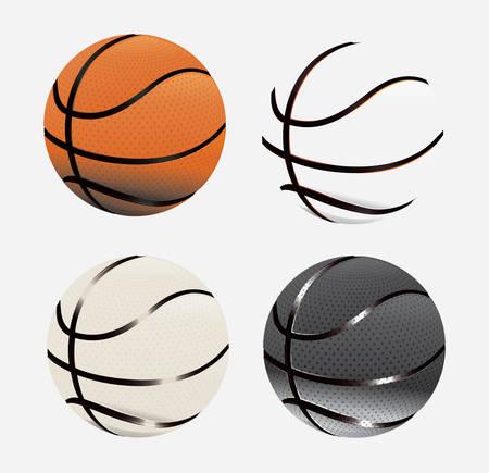 balon baloncesto: dise�o del cartel de baloncesto, ilustraci�n vectorial