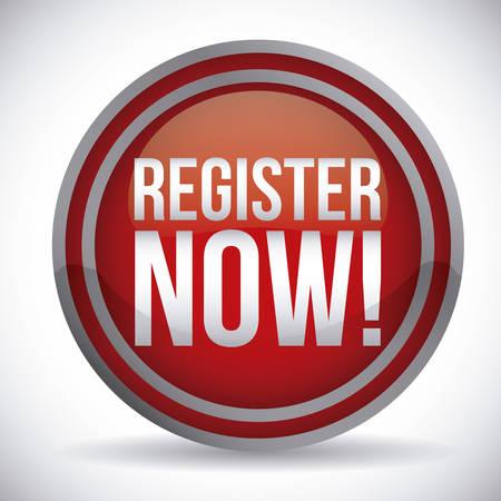 register button: register button design, vector illustration eps10 graphic Illustration