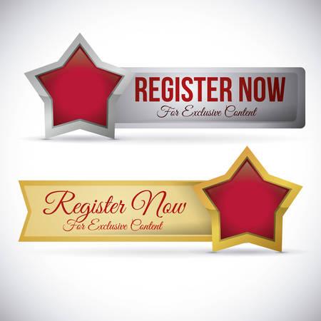 register button design, vector illustration eps10 graphic Vector