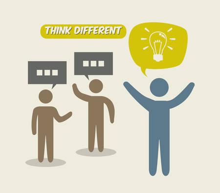 think different: think different design, vector illustration eps10 graphic Illustration