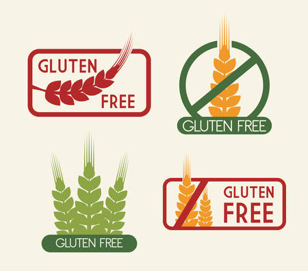 set free: gluten free design, vector illustration eps10 graphic